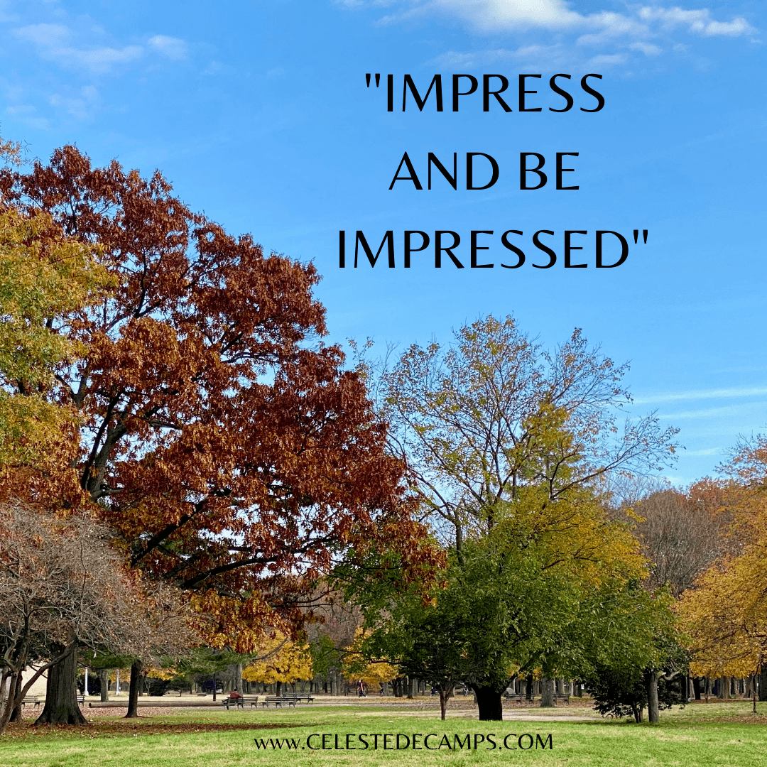 """Impress and Be Impressed"""