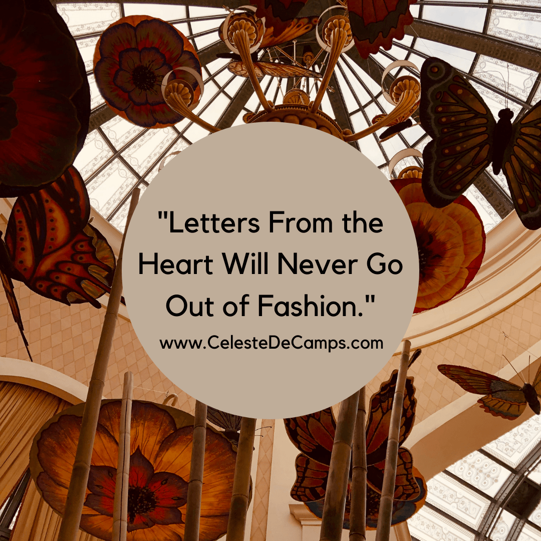 """Letters From the Heart Will Never Go Out of Fashion."""